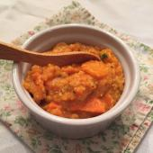 Delicious red lentil and vegetable stew perfect for fall cooking
