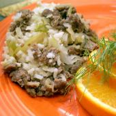 Saladmaster Healthy Solutions 316 Ti Cookware: Savory Sausage and Rice Casserole