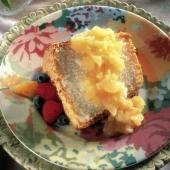 Angle Food Cake with Pineapple Sauce