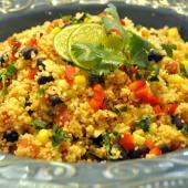 Couscous Salad with Black Beans & Corn