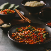 Making a quick and healthy vegetable stir-fry without oil