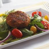 Saladmaster Recipe Spinach Salad with Salmon Cakes
