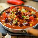 chili, vegan, beans, corn