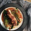 Saladmaster Recipe Miso Glazed Fish with Bok Choy