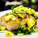 Saladmaster Recipe Salmon with Spicy Cucumber-Pineapple Salsa