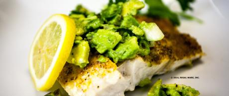 Saladmaster Recipe Sea Bass with Avocado Salsa