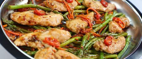 Chicken recipe, balsamic chicken, one skillet recipes