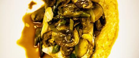 Saladmaster Recipe Sea Bass with Ginger, Mushrooms & Asparagus