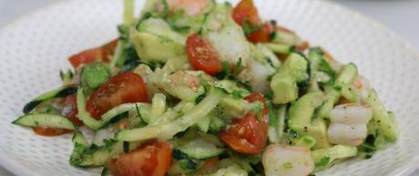 Avocado, Shrimp, Salad, healthy, tomatoes, cucumbers