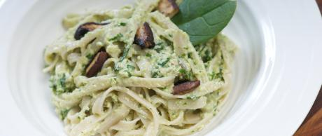 Brown Rice Pesto Pasta by Marni Wasserman