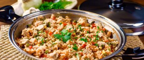 Chicken and Rice, Arroz con Pollo, Chicken recipe, simple chicken