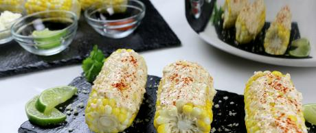 corn, snack, vegetable, bbq, mexican, side dish