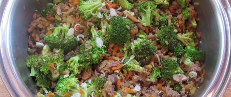 ground beef, vegetables, BBQ, Korean