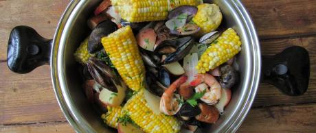 Seafood and Sausage Boil, Saladmaster recipes