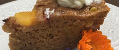 Cake recipe, peaches, fruit cake,