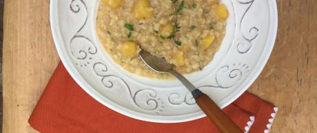 risotto, squash, whole grain