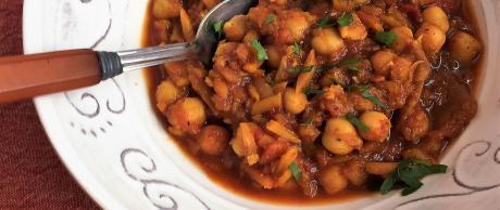 Masala, chickpea, winter, soup, squash, vegetarian