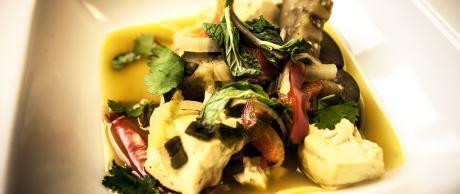 Saladmaster Recipe Tofu & Eggplant in Coconut-Curry Sauce