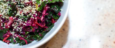 Creamy Avocado Kale Salad