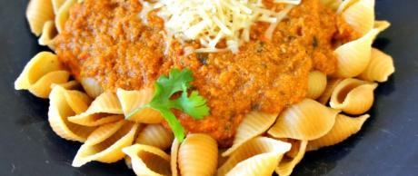 Bell Pepper and Garlic Pasta Sauce