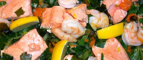 Saladmaster 316Ti Stainless Steel Recipe - Saffron Poached Fish with Greens
