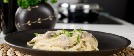 mushroom, pasta, vegetarian