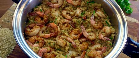 shrimp recipe, quinoa recipe, 30 minute meals