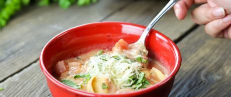Tomato Soup, Tortellini, winter soup, soup
