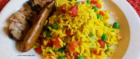Saladmaster Recipe Yellow Rice with Pan Roasted Sausage