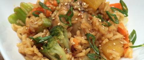 Asian teriyaki rice and chicken recipe