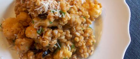 Saladmaster Recipe Farro with Cauliflower & Olives
