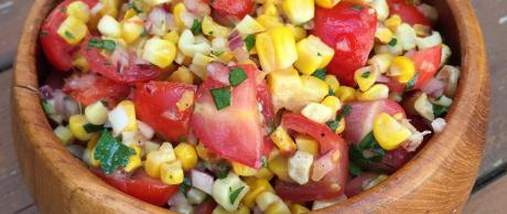 Mexican corn salsa for tacos