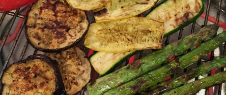 Saladmaster grilled vegetables recipe with as simple yoghurt dressing
