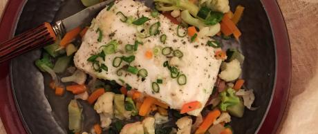 Saladmaster Recipe Herbed Cod Filet in Garlic Wine Broth