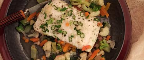 Saladmaster Recipe Herbed Cod Filet in Garlic Wine Broth