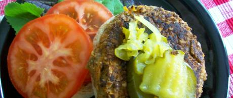 Saladmaster Recipe Lentil, Mushroom & Walnut Patties by Cathy Vogt