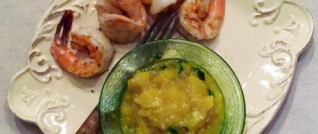 Colombian mango sauce for dipping shrimp