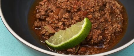 Delicious picadillo filling for savory pastries made in the Saladmaster MP5