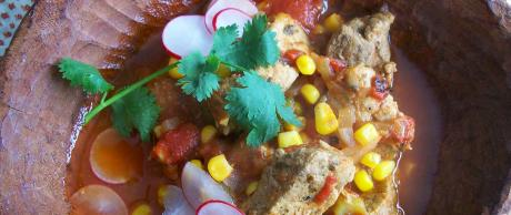 Saladmaster Recipe Pork with Smoky Tomato & Green Chili Stew by Cathy Vogt