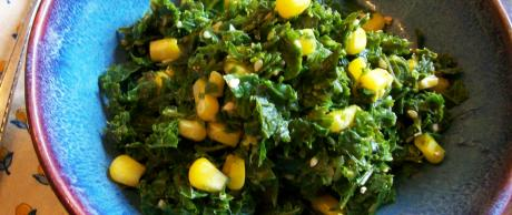 Saladmaster Recipe Sesame Kale and Corn by Cathy Vogt