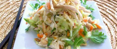 Saladmaster Recipe Shredded Chicken & Cabbage Slaw with Toasted Almonds by Cathy Vogt