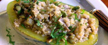 Saladmaster Recipe Stuffed Winter Squash by Cathy Vogt
