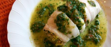Saladmaster Recipe Crabmeat Stuffed Flounder with Tomato Parsley Dressing