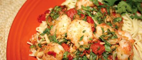 Saladmaster 316Ti Cookware: Shrimp Pasta with Tarragon and Arugula