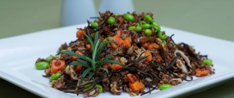 Saladmaster Recipe Quinoa Shiitake Edamame Pilaf by Marni Wasserman