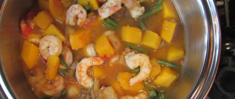 shrimp, vegetables, stew, filipino