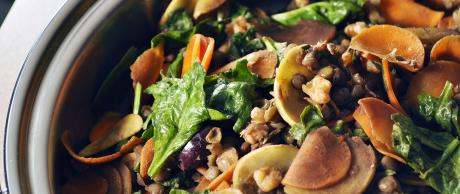 Saladmaster Recipe Lentil Spinach Sauté by Chef Frank Turner