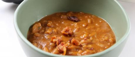 saladmaster MP5 baked beans, beans, bacon, bbq, sides,