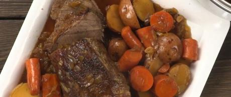 roast, balsamic roast, vegetables, MP5, slow cooker recipe