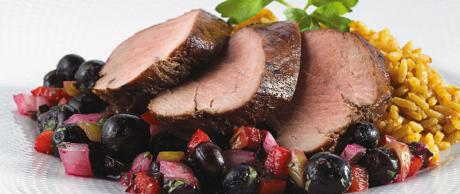 Saladmaster Recipe Blueberry Salsa Pork Tenderloin